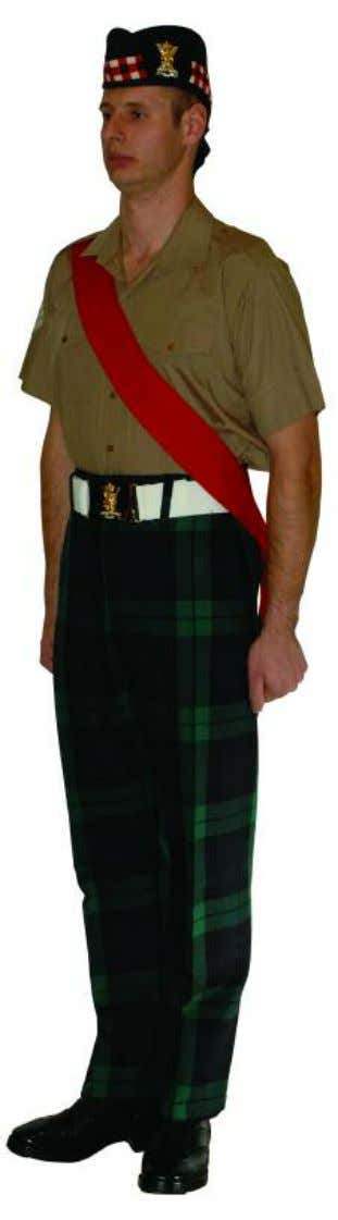 The Royal Regiment of Scotland - Dress Regulations wo2/snco N o. 14c - barrack dress trews