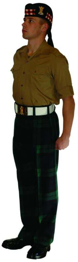 The Royal Regiment of Scotland - Dress Regulations jnco N o. 14c - barrack dress trews