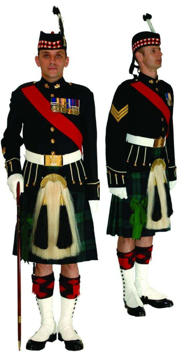 The Royal Regiment of Scotland - Dress Regulations wo2/SNCO N o. 1A - Ceremonial 88