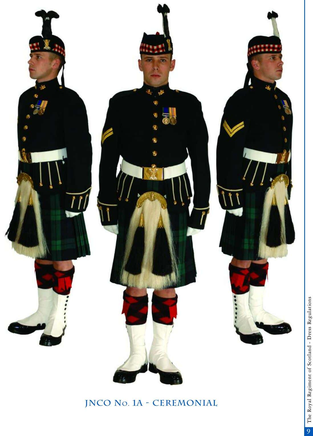 JNCO No. 1A - Ceremonial 9 The Royal Regiment of Scotland - Dress Regulations