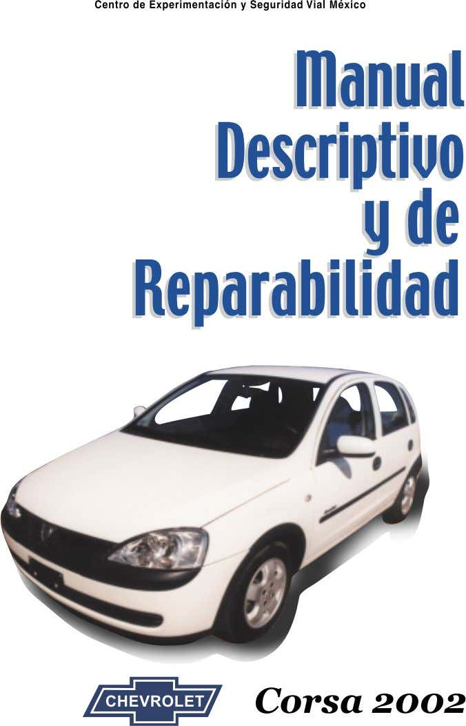 Manual Descriptivo y de Reparabilidad Corsa 2002