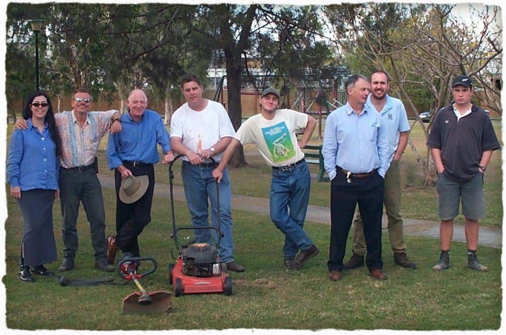 "a pace which matches the gifts and needs of our workers"" . First park mowed for"