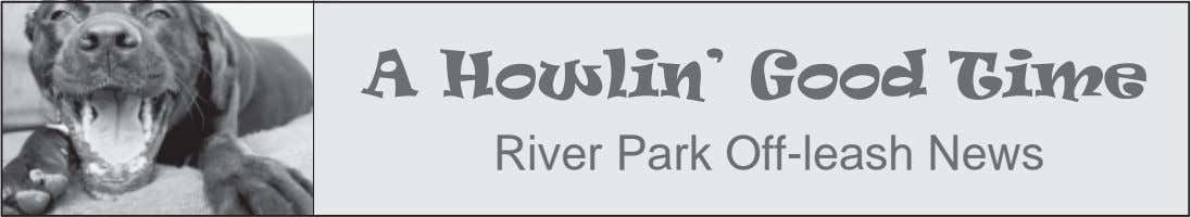 A Howlin' Good Time River Park Off-leash News