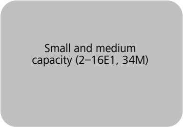 Small and medium capacity (2–16E1, 34M)