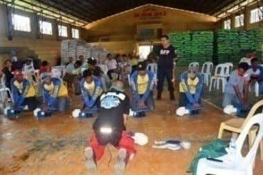 Support during response in time of disasters and accidents. First Aid & Basic Life Support Training