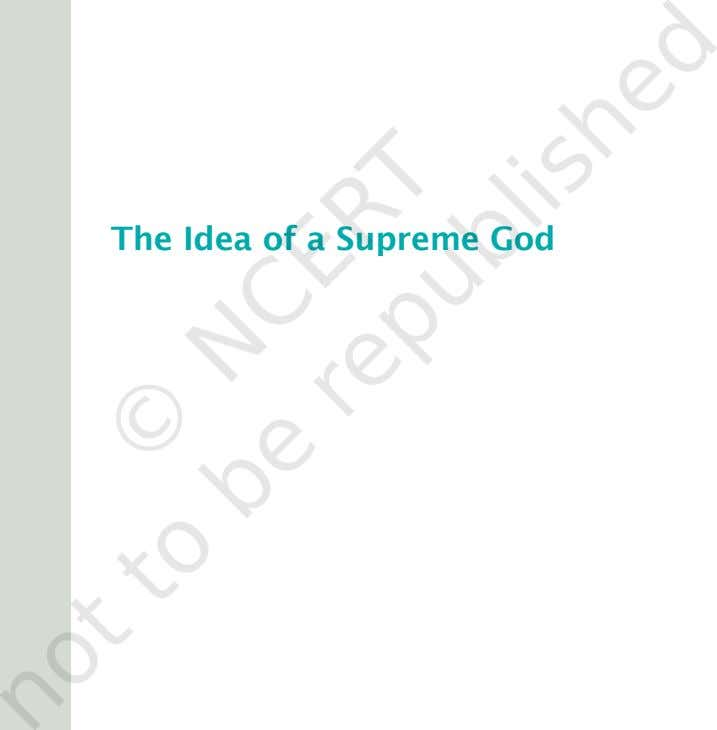 The Idea of a Supreme God