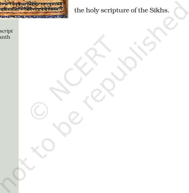 It the holy scripture of the Sikhs. 1606.