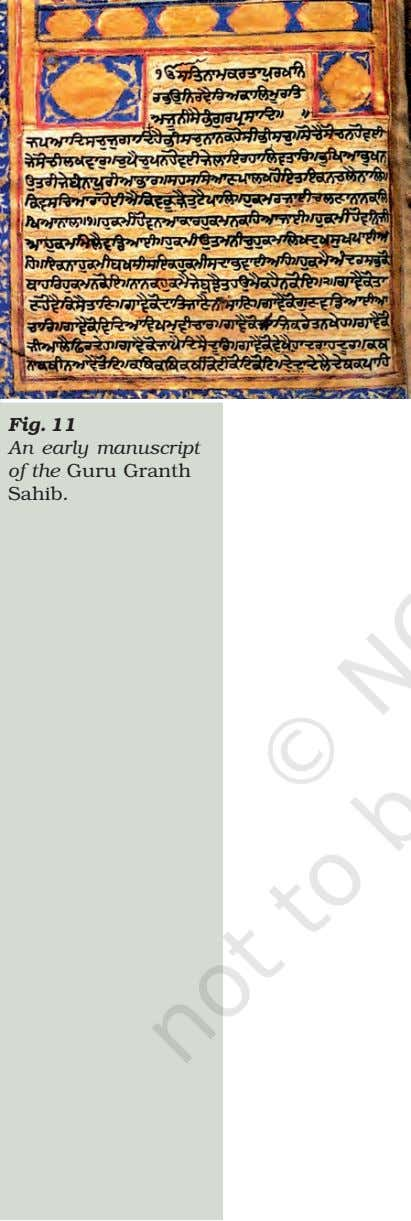 Fig. 11 An early manuscript of the Guru Granth Sahib.