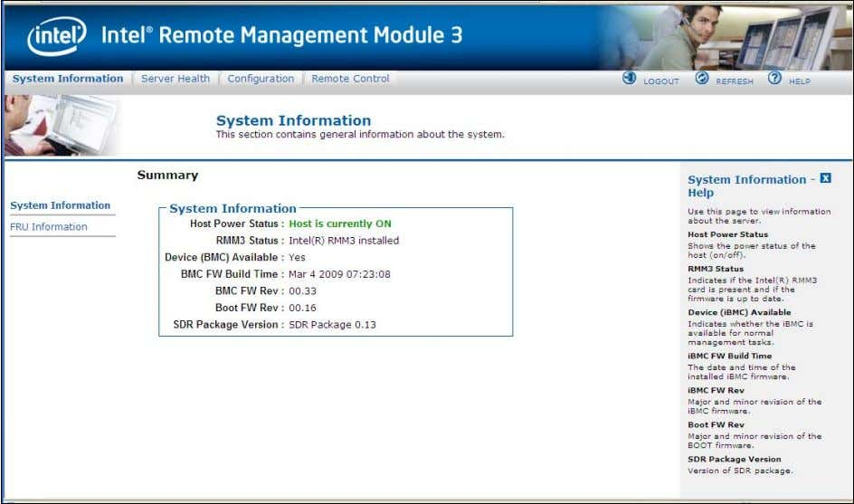 Intel® Remote Management Module 3 User Guide Figure 18. Launching the Online Help 5.5 Logging Out