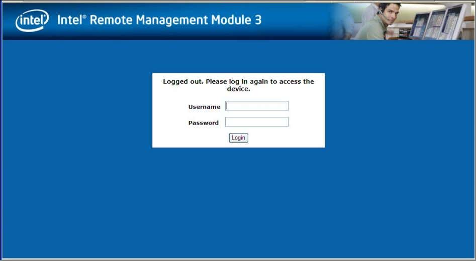 Figure 20. Logging Out of Intel ® RMM3 – Step 2 Note: Automatic Timeout -