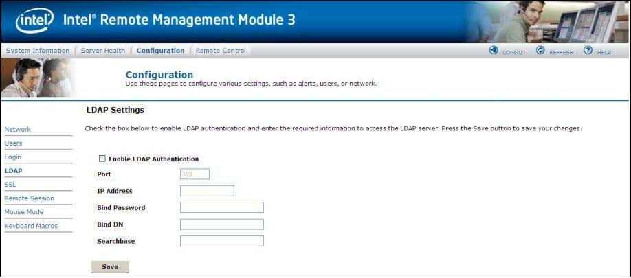 """Enable LDAP Authentication"" checkbox respectively. Figure 45. Configuring LDAP Settings window The following"
