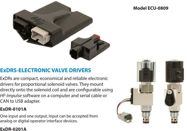 Model ECU-0809 ExDRS-ELECTRONIC VALVE DRIVERS ExDRs are compact, economical and reliable electronic drivers for