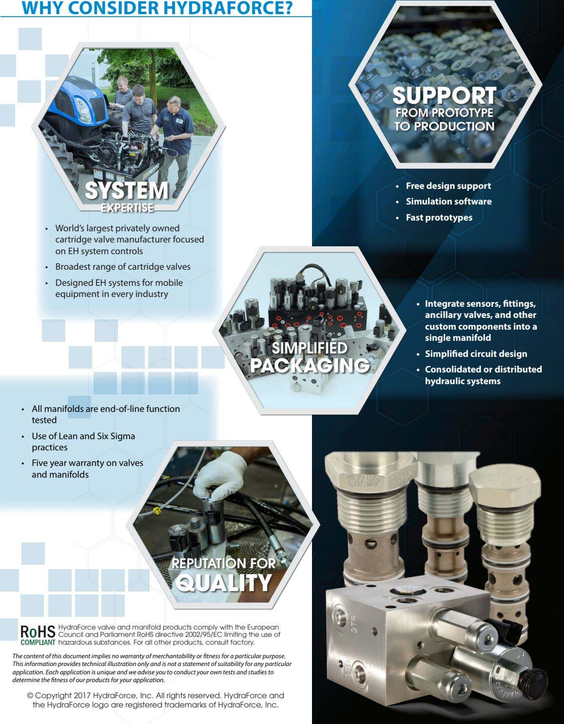 WHY CONSIDER HYDRAFORCE? SUPPORT FROM PROTOTYPE TO PRODUCTION SYSTEM • Free design support • Simulation