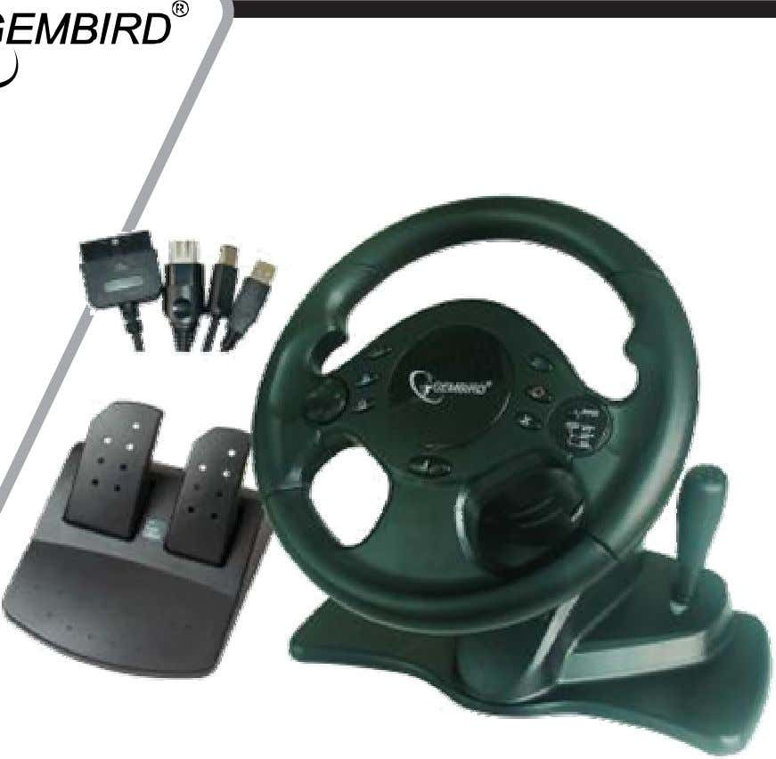 STR-SHOCKFORCE-M Racing wheel USER MANUAL