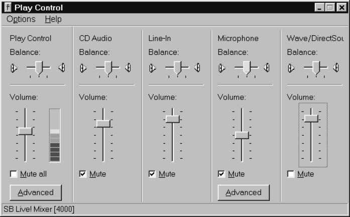 effects like 3D sound and reverberation. Playback Control Levels can be adjusted individually for each channel.