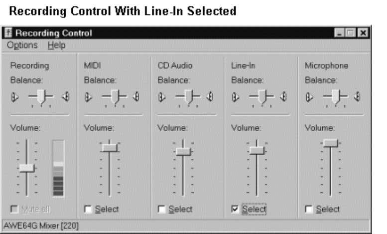 Some sound card software adds a master volume control and recording level meter to the