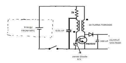 from the MFC 2 0 by using the step-up transformer. FIGURE 12: Step-Up Frequency Transformer In