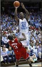 SPORTS SHOWCASE COLLEGE BASKETBALL N. CAROLINA 74 N.C. STAT E 55 WIS CONSIN 57 INDIANA 50