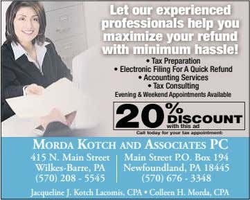 Let our experienced professionals help you maximize your refund with minimum hassle! • Tax Preparation
