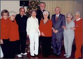 ki, Matt Slavinsky, Pat Riley, Tom Pe rlis and Joe George. Father Nahas Senior Citizens Club
