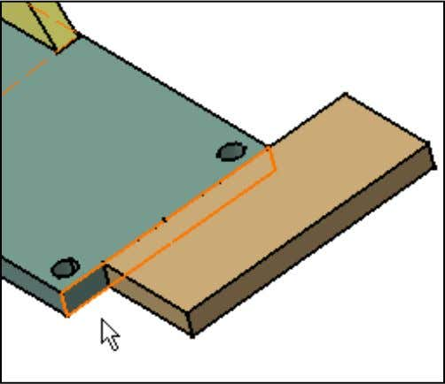 Note that the view area now shows the four selections required to weld the components.