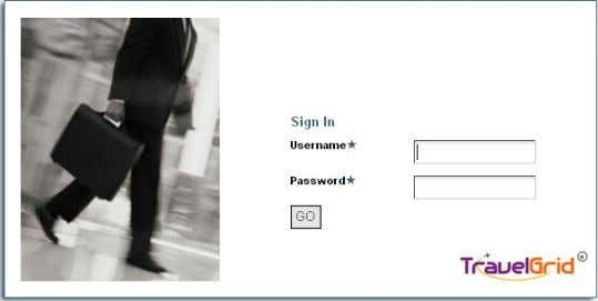 The below screen will appear with employee-id and Username Screen Shot 1: Login screen for Traveler