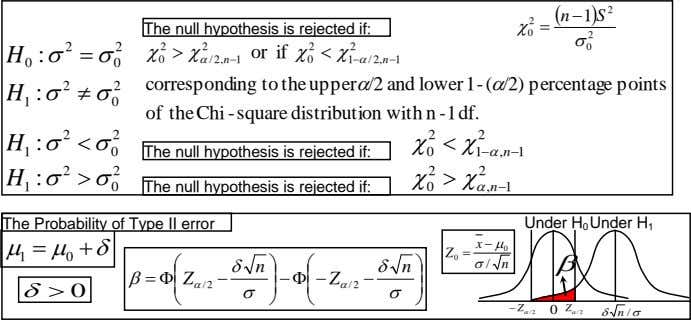  n  S 1  2  2  The null hypothesis is rejected