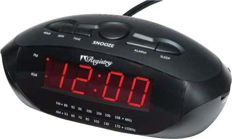 A A. Registry ® LED Clock Radio with USB and MP3 Wake to buzzer or radio.