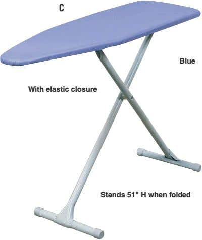 "C Blue With elastic closure Stands 51"" H when folded"