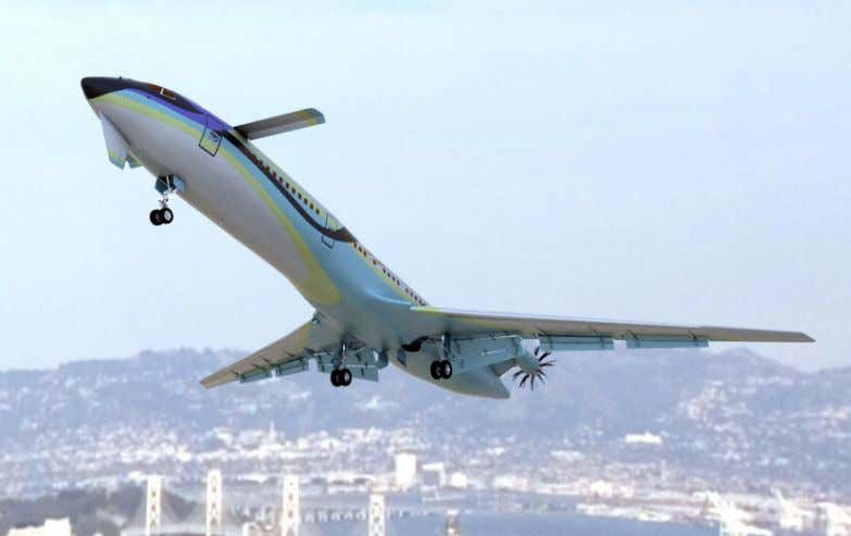 specific fuel consumption and is included in this baseline. figure 13. Preferred Concept Tailless Airliner Of