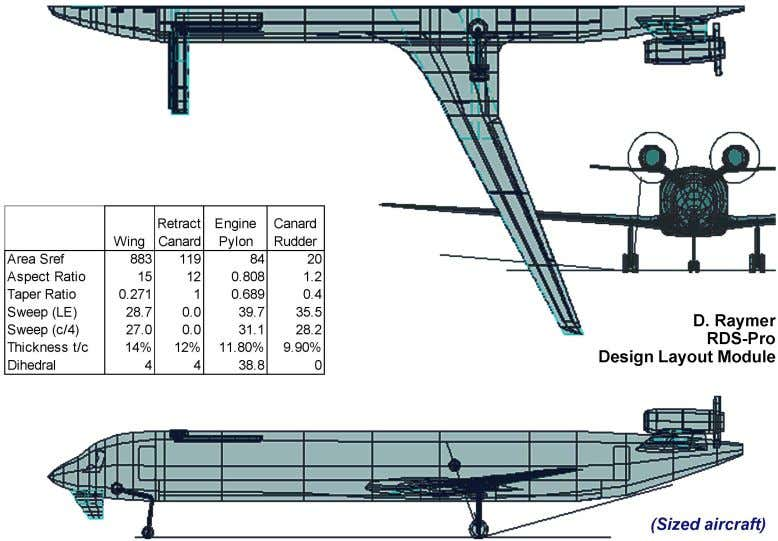 figure 14. NAS2 Vehicle Internal Arrangement Three-View The NAS2 preferred concept is a normal airliner