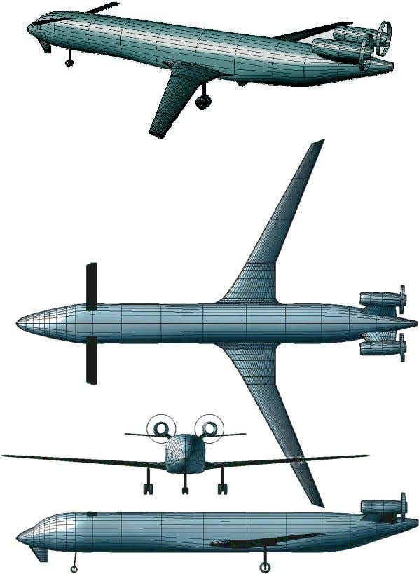 figure 15. NAS2 External Arrangement (Sized) Enabling Technology: Retracting Canard and Chin Rudder The obvious