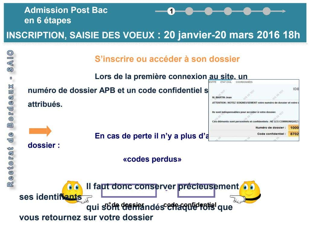 Ad missi on Post B ac Admission Post Bac 1 en 6 é a pe t