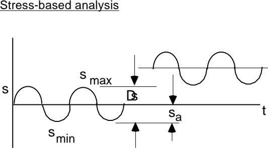Stress-based analysis s max s Ds s t a s min