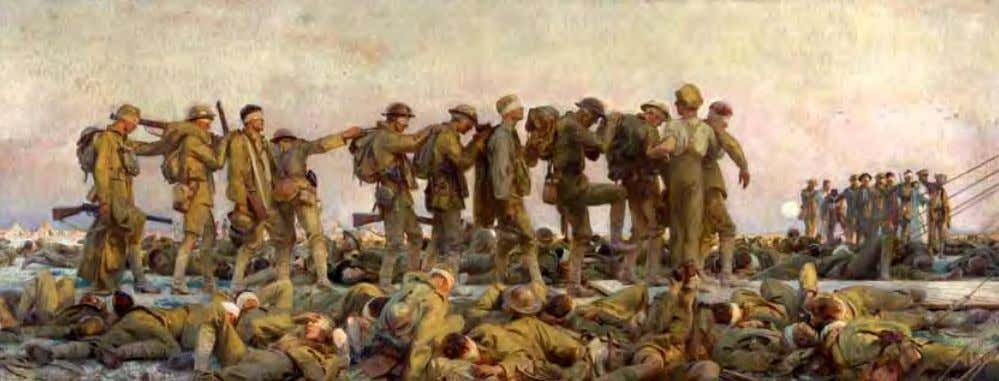 Gassed by John Singer Sargent, 1918, courtesy of the Imperial War Museum After consulting with