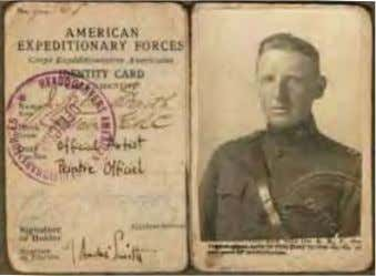 not serve as the official portrait painters of the generals. J. André Smith's identity card, courtesy