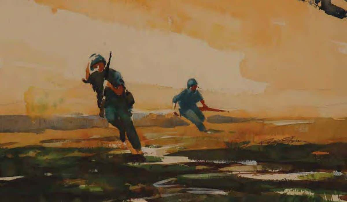 Infantry Soldier by roger Blum Vietnam, 1966 Watercolor on paper In THE ArTIST'S oWn WordS