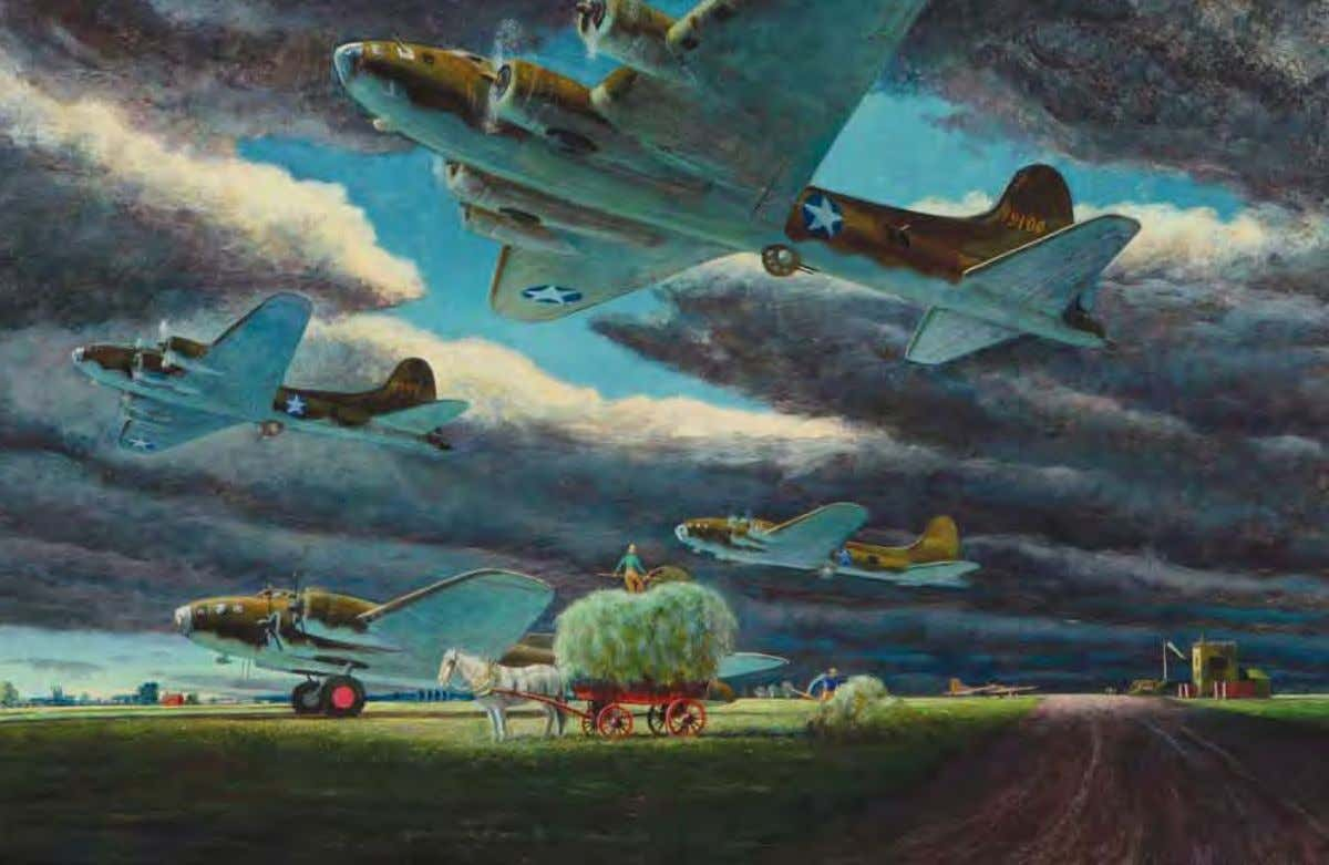 War and Peace by Peter Hurd united Kingdom, July 1942 Tempera on board 102