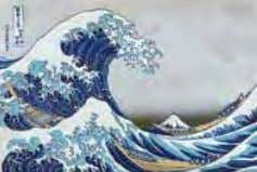 The Great Wave off Kanagawa , ca. 1830, library of Congress Mechau wrote about his experience