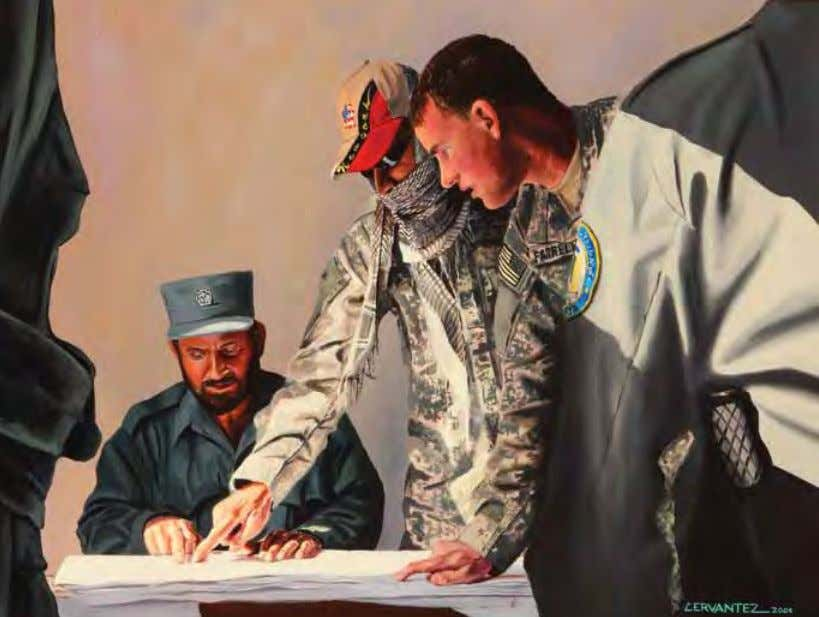 A Huge Responsibility by martin Cervantez Afghanistan, 2009 Oil on canvas This painting is based