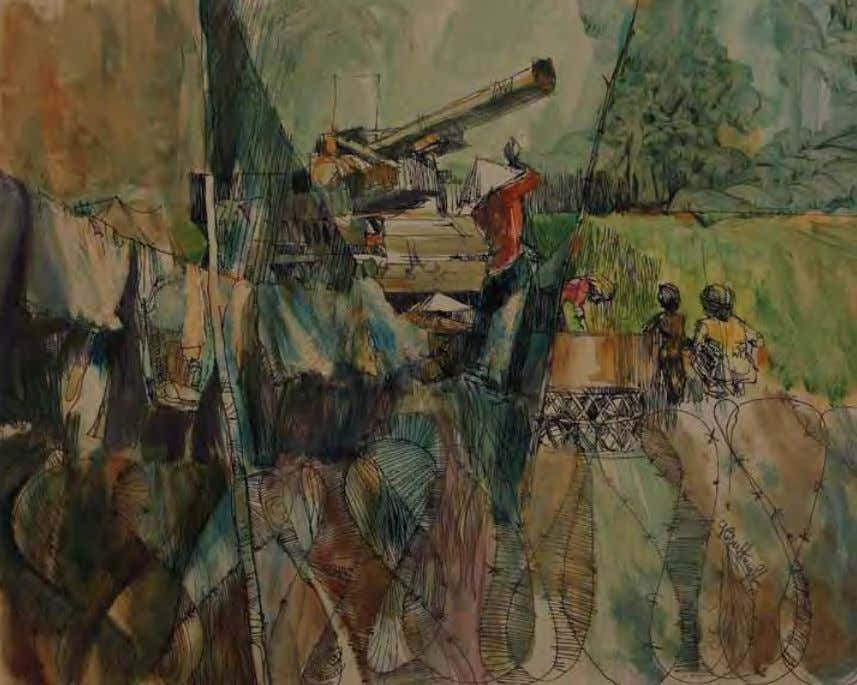 interpretation would be more appropriate. —rOBErT KnIGHT Scene near Chu Chi by robert Knight Vietnam, 1966