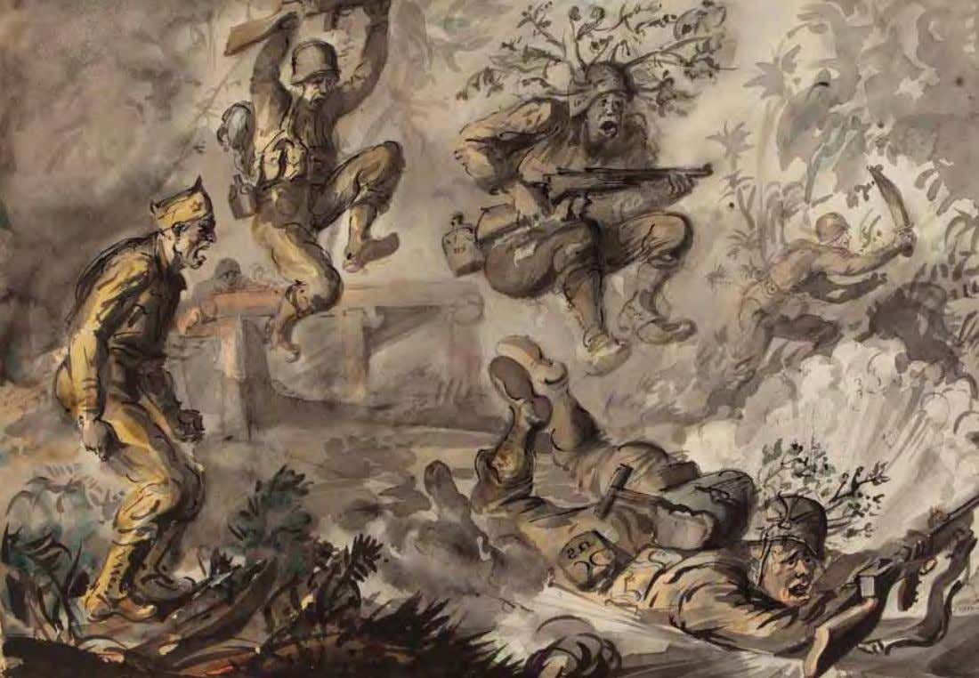 Jungle Training by reginald marsh 1943 W a t e r c o l o