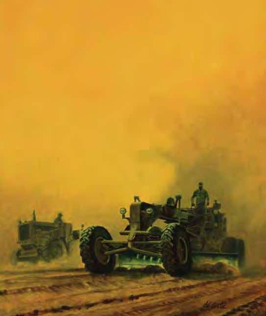 Combat Engineers by robert DeCoste Vietnam, February 1967 Acrylic on canvas In THE ArTIST'S oWn