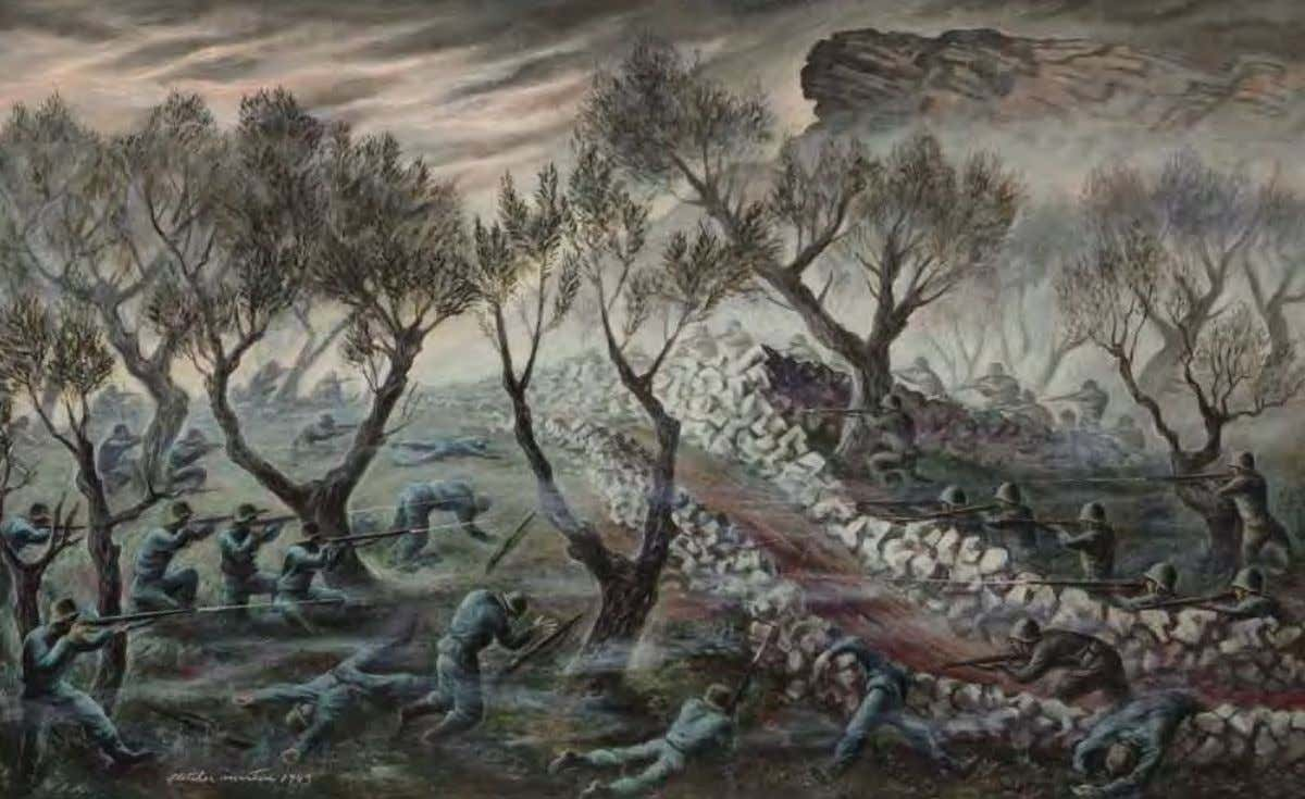 Hill 609 by Fletcher martin Tunisia, 1943 Oil on canvas 130