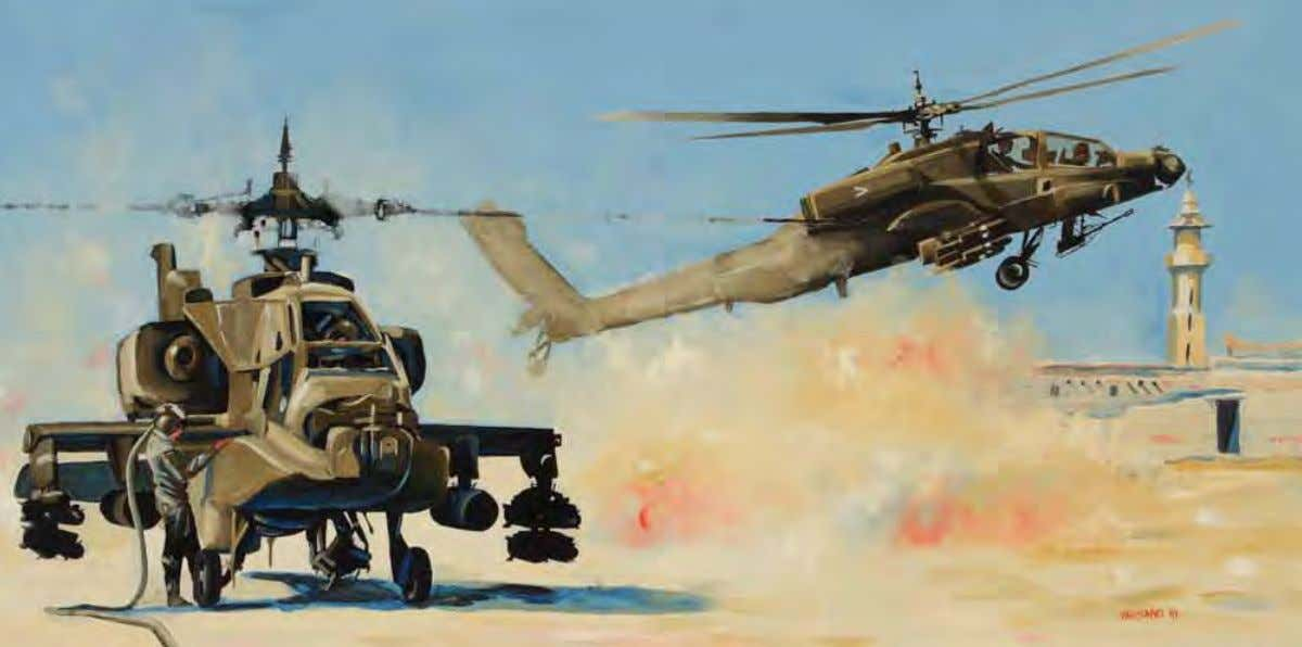 Desert Storm 101st Style by Peter G. Varisano Saudi Arabia, January 1991 Oil on canvas