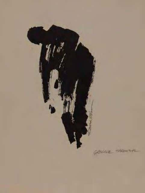 Infantry Soldier by roger Blum Vietnam, 1966 Ink on paper Grenade Thrower by roger Blum Vietnam,