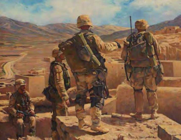 The Hazara Province by Elzie Golden 28 May 2003 Oil on canvas Depicting Special Forces
