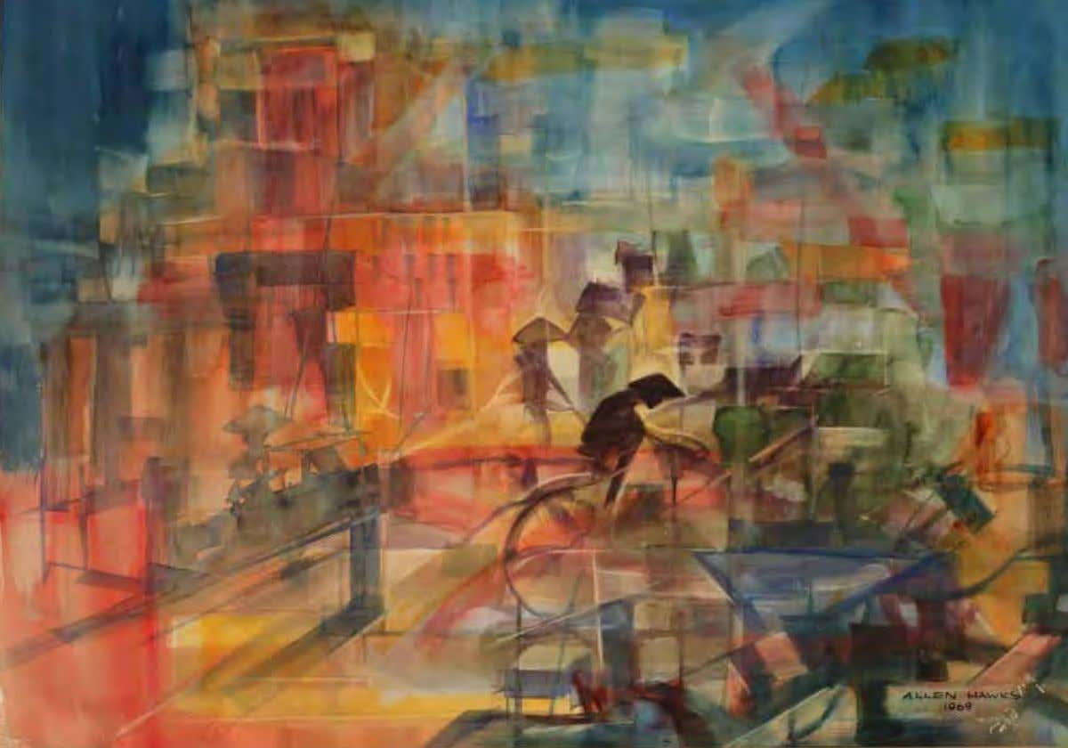 Saigon by Horatio A. Hawks 1969 Watercolor on paper This painting appears to exhibit the