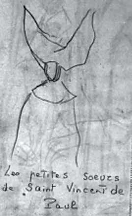 old parts of —GLADYS ROCkMORE DAVIS Time Inc. archives Sketch of nun from Gladys Rockmore Davis'