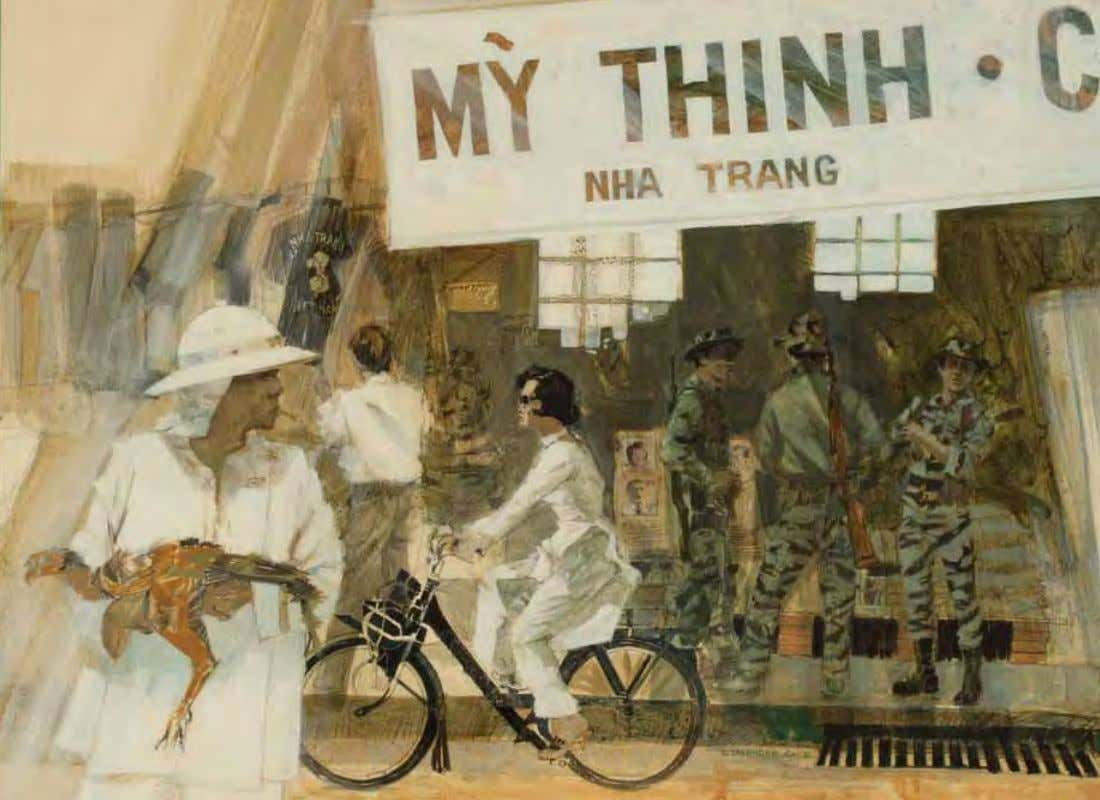 Street Scene by David M. Lavender vietnam, 1966 Acrylic on board A Rest and Recreation